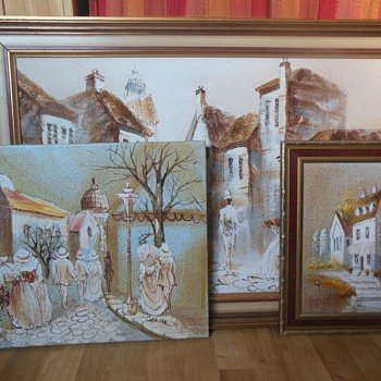 Chezar oil & Sand painting
