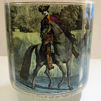 Printed Glassware with Horses - Dressage? - Glassware