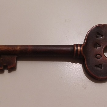 Old Copper Hotel Key - Tools and Hardware