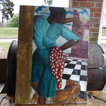 Vintage African American Painting