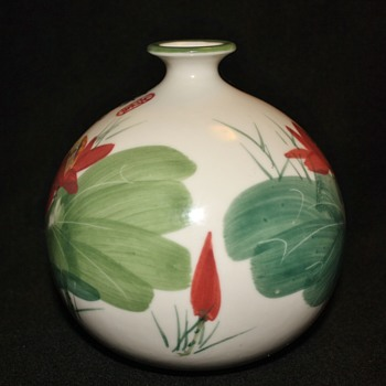 Chinese vase with onion neck - Asian