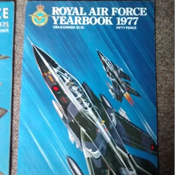 Royal Air Force Year books including the Diamond Jubilee the RAF, year 78, 76. 77 and 75