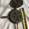 Tiny Griswold cast iron waffle maker