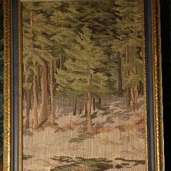 Tapestry Forest Scene - 1910-1920?