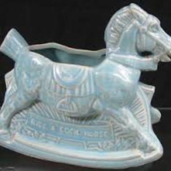 McCoy Rocking Horse Planters - Pottery