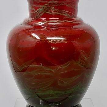 "Bohemian ""Titania-type"" Glass Vase, ca. 1910 - Art Glass"