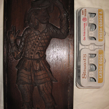 Antique 18th Century? Carved Gingerbread Mold - Folk Art