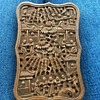 Fine 19th/20th C Asian Antique Chinese Hand Carved Wood Card Case Canton Box