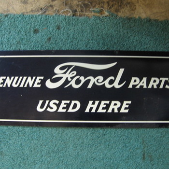 FORD PARTS SIGN