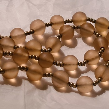 WMF glassbead necklace 1930's  - Costume Jewelry