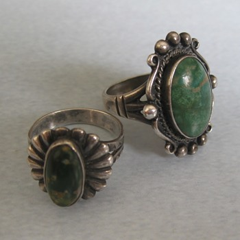 Unknown Native American green turquoise rings - part 3 - Fine Jewelry