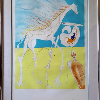 "Salvador Dali Conquest of Cosmos ""Saturnian Giraffe"" - Mid-Century Modern"