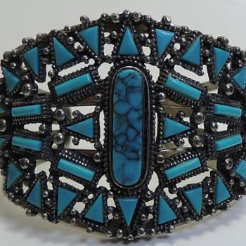 Bracelet F aux Stones - FLORENZA? - Costume Jewelry