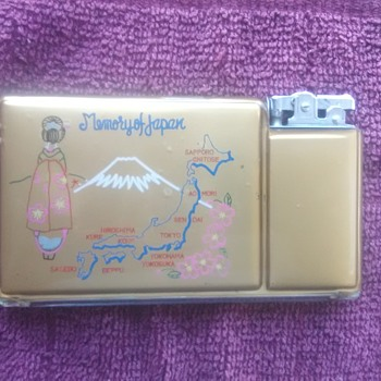 Souvenir Japan cigarette case lighter - Tobacciana