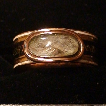 "Georgian Mourning Ring 1809 Nannette ""Ann"" Margaret Prevost Wife of Major General Augustin Prevost - Fine Jewelry"