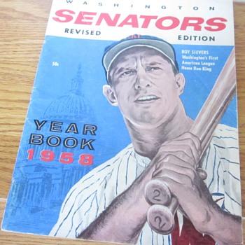 1958 Washington Senator's Yearbook - Baseball