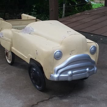 "Antique ""Sad Face"" Pedal Car - Model Cars"
