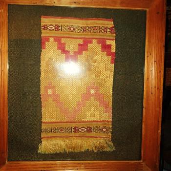 Peru Old Inca Llama material, 1300-1400, from Ica Peru