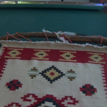 Rug used as taperstry - Native American