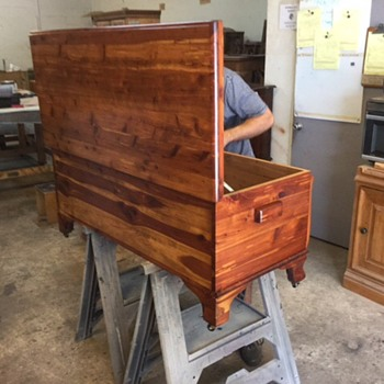 Grandfathers cedar chest restoration more photos - Furniture