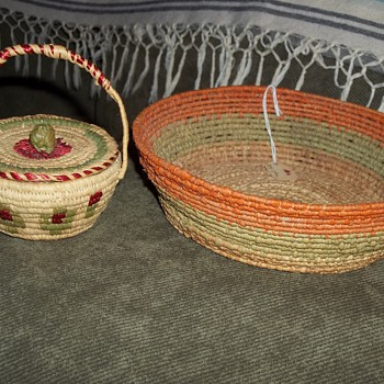 Baskets made by Hazel Pete, Chehalis Tribe - Native American