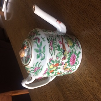 Antique Chinese Famille Rose Teapot, 19C (?)