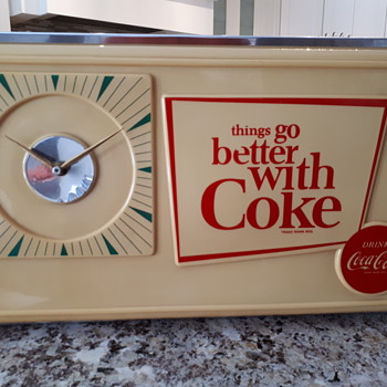 1960's Coca Cola  Canadian Clock - Coca-Cola