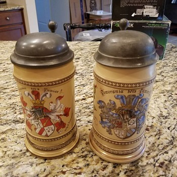 Just trying to get info on these Steins. Grandpa brought back from Germany WWII - Breweriana
