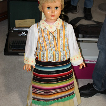 Polish Doll in Traditional Dress  - Lifesize! From the 1950's or 60's - Dolls