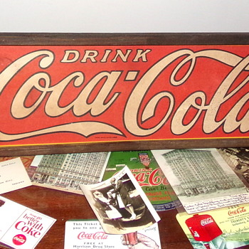 1930's Coca-Cola Cardboard Sign