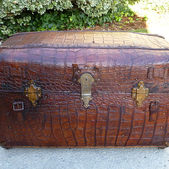 Alligator Covered Portfolio Trunk #1 - Furniture