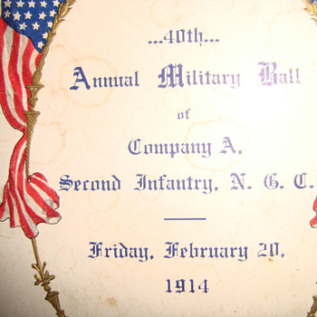 Millitary Ball Dancecard circa 1914 - Military and Wartime