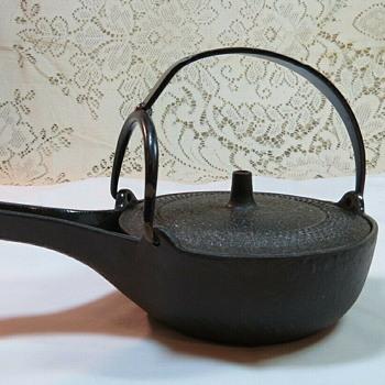 Iwachu cast iron choshi (sake warming) kettle - Asian