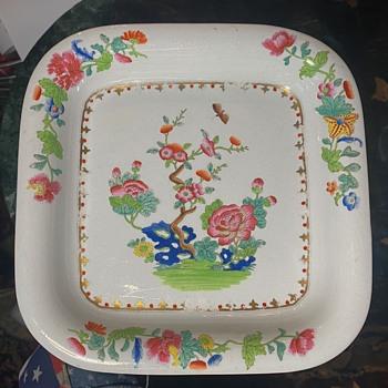 1805-1820 Spode Dresser Tray - Willis Pattern - China and Dinnerware