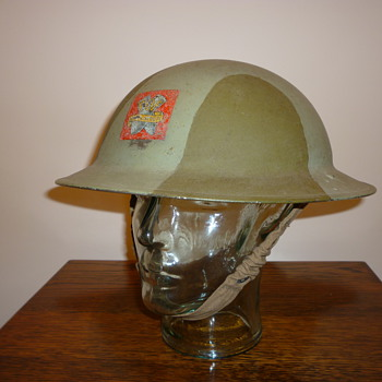 British WWII Royal Ordnace Factory steel helmet