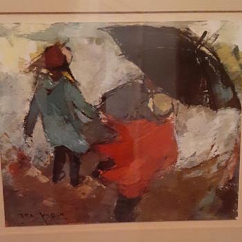 """Small framed art piece 101/2 x 11"""" - Fine Art"""
