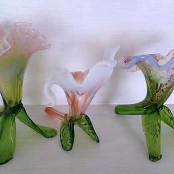 Kralik floriform vases - Art Glass