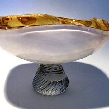 Murano Small *Footed* Bowl - Art Glass