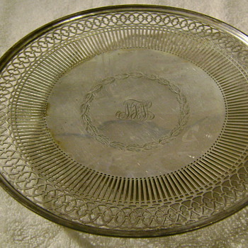Tiffany serving plate from my grandmother - Silver
