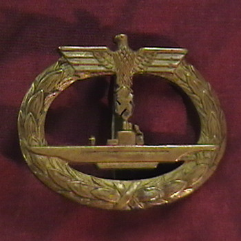 WW II German U Boat Badges - Military and Wartime