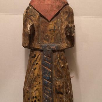 Antique Wooden Statue - Folk Art
