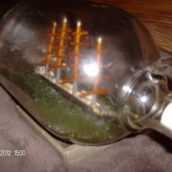One Gallon Jug Ship In A Bottle from the 1940's - Bottles