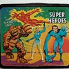 1976 Marvel Comics, Super heroes lunch box with bottle.