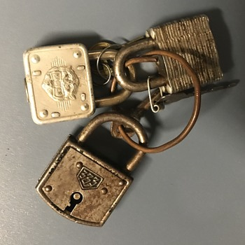 Three vintage locks. - Tools and Hardware