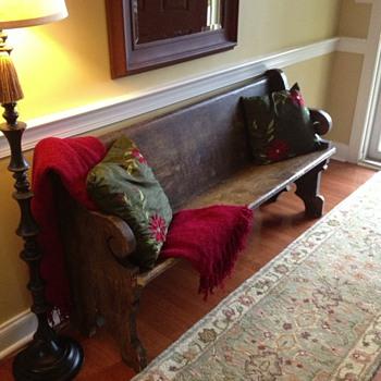 My old church pew - Furniture