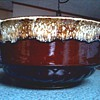 "Robinson Ransbottom Pottery Co. (RRP Co.) /10.5"" Brown Drip Glaze ""Pudding Bowl"" or ""Planter""/Roseville Ohio Circa 1940's"