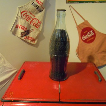 "1930's, 20"" Glass Display Bottle, ""Christmas Coke"" - Coca-Cola"