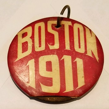 1911 Boston pin pinback button medal William Dorrety jeweler - Medals Pins and Badges