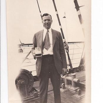 Daddy Having Breakfast In 1933 - Photographs
