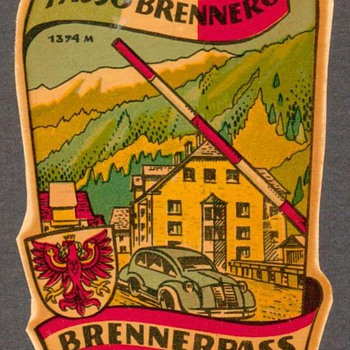 "Travel Decal - ""Brenner Pass"" (Austria-Italy) - Advertising"